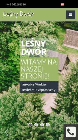 Vorschau der mobilen Webseite www.lesny-dwor.pl, Klettern und Wanern im Riesengebirge in Polen