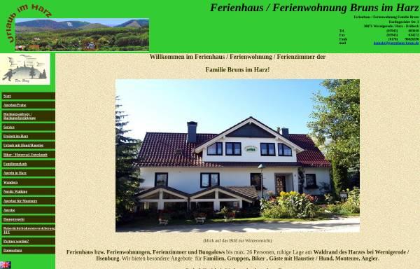Vorschau von www.gaestehaus-bruns.de, Urlaub im Harz