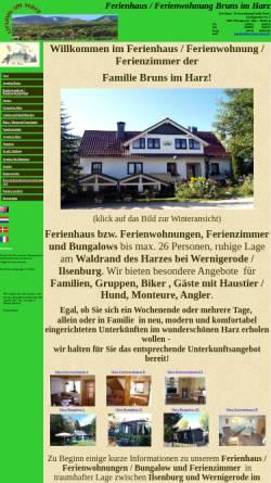 Vorschau der mobilen Webseite www.gaestehaus-bruns.de, Urlaub im Harz
