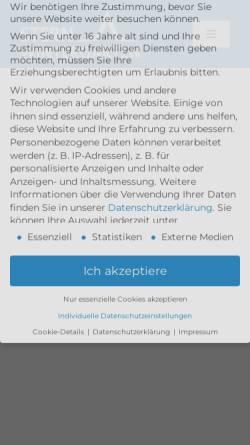 Vorschau der mobilen Webseite www.stern-wintergarten.de, Stern Wintergarten