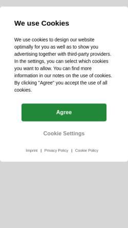 Vorschau der mobilen Webseite www.hartenberger-tauchsportcenter.de, Hartenberger Taucherlampen