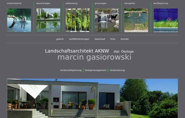Vorschau von www.marcin-gasiorowski.de, Landschaftsarchitekturbüro Gasiorowski