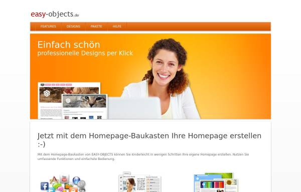 Vorschau von www.easy-objects.de, EASY-OBJECTS: CMS + Shopsystem + Online Datenbank