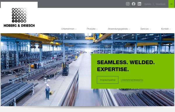 Vorschau von www.hoberg-driesch.de, Hobert & Driesch - Stahlrohrgrosshandel