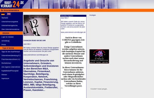 Vorschau von kauf-verkauf24.de , Firmen und Unternehmensboerse