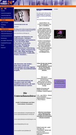 Vorschau der mobilen Webseite kauf-verkauf24.de , Firmen und Unternehmensboerse