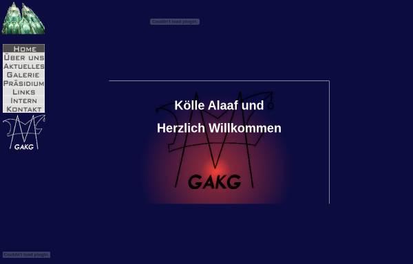 Vorschau von www.gakg.de, Grosse Akademische Karnevalsgesellschaft