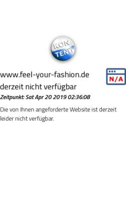Vorschau der mobilen Webseite www.feel-your-fashion.de, Feel your Fashion - T-Shirt Shop