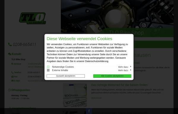 Vorschau von www.tlo-bikeshop.de, TLO-BikeShop - Motorradteile und Zubehör