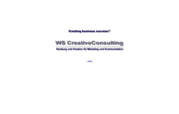 Vorschau von www.ws-creativeconsulting.de, WS CreativeConsulting
