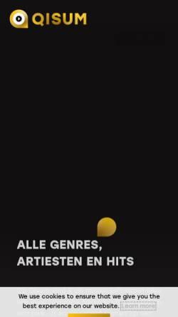 Vorschau der mobilen Webseite www.qisum.de, Qisum Musik, Reise und Urlaub