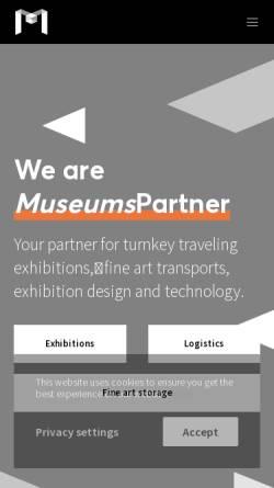 Vorschau der mobilen Webseite www.museumspartner.com, MuseumsPartner – Die Kunstspedition