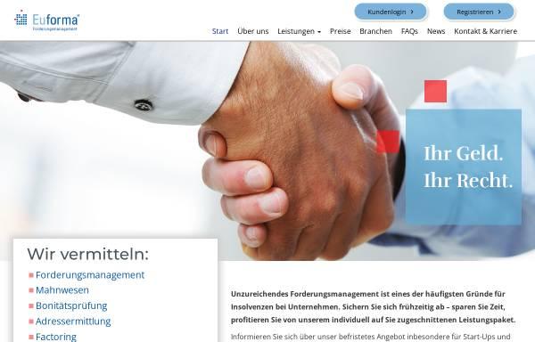 Vorschau von www.euforma.eu, Euforma Forderungsmanagement AG