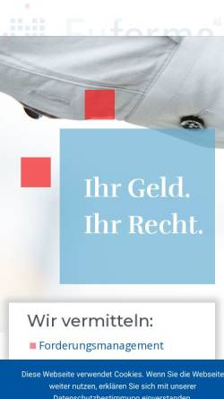 Vorschau der mobilen Webseite www.euforma.eu, Euforma Forderungsmanagement AG