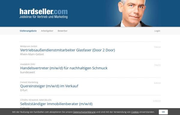 Vorschau von www.hardseller.com, hardseller.com – Jobbörse für Vertrieb und Marketing