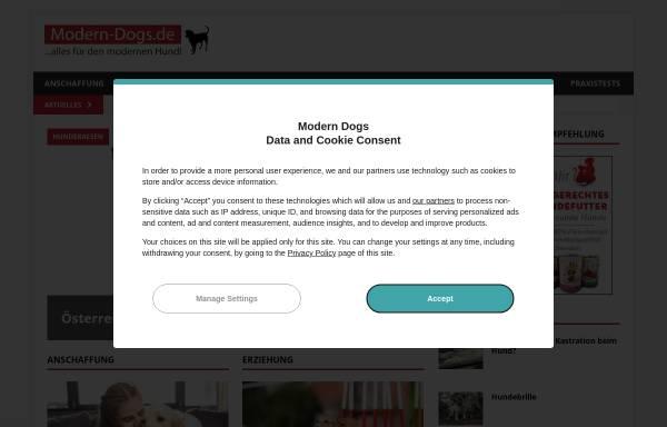 Vorschau von www.modern-dogs.de, modern dogs
