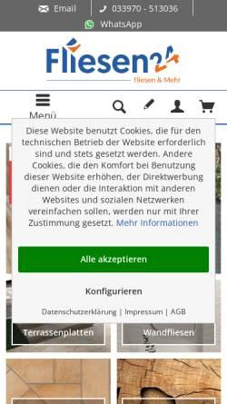 Vorschau der mobilen Webseite www.fliesen24.com, fliesen24.com