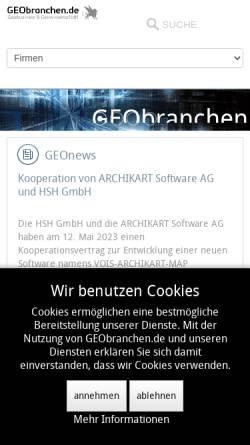 Vorschau der mobilen Webseite www.geobranchen.de, GEObranchen.de