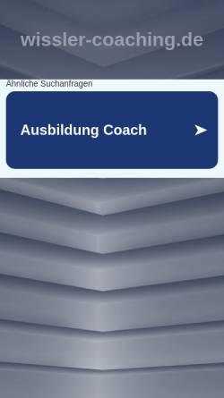 Vorschau der mobilen Webseite www.wissler-coaching.de, Gerhard Wissler