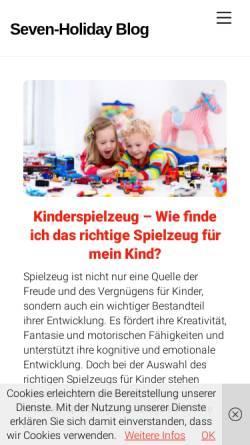 Vorschau der mobilen Webseite www.seven-holiday.de, seven-holiday.de
