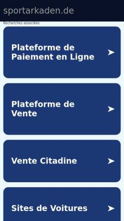 Vorschau der mobilen Webseite www.sportarkaden.de, SportArkaden