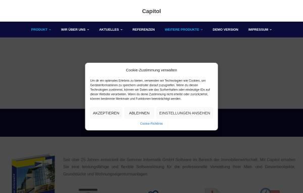 Vorschau von www.capitol-classic.de, Software zur Immobilienverwaltung