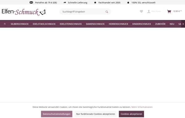 Vorschau von www.elfen-schmuck.de, Elfen Schmuck, Ihr Online Schmuck Shop
