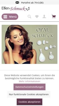 Vorschau der mobilen Webseite www.elfen-schmuck.de, Elfen Schmuck, Ihr Online Schmuck Shop
