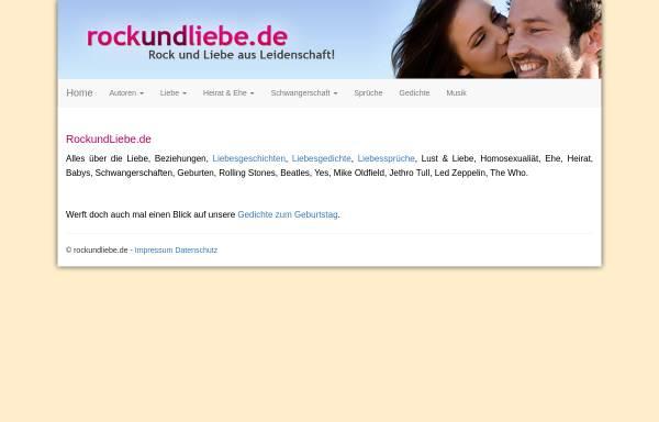 Vorschau von www.rockundliebe.de, Rock und Liebe