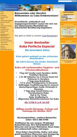 Vorschau der mobilen Webseite www.cuba-erlebnisreisen.de, Cuba-Erlebnisreisen.de