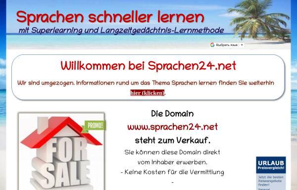 Vorschau von www.sprachen24.net, sprachen24.net - Fremdsprechen lernen auf CD-Rom