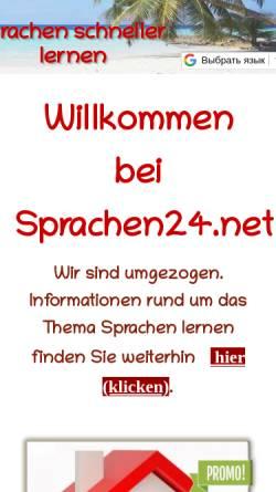 Vorschau der mobilen Webseite www.sprachen24.net, sprachen24.net - Fremdsprechen lernen auf CD-Rom