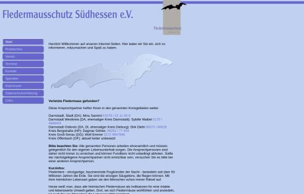 Vorschau von www.fledermausschutz-suedhessen.de, Fledermausschutz Darmstadt, Dieburg, Odenwald