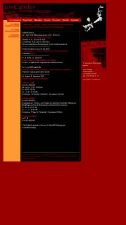 Vorschau der mobilen Webseite www.loscabales.de, los cabales – Flamenco-Tanz-Studio