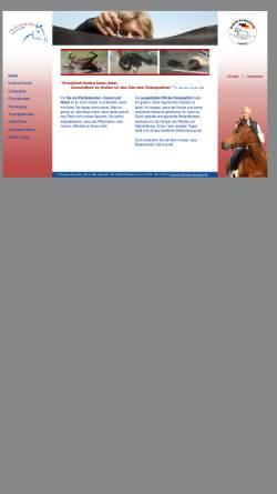 Vorschau der mobilen Webseite www.horse-therapie.de, Osteopathie für Pferde - Diplom Pferdetherapeutin Kristina Pressler
