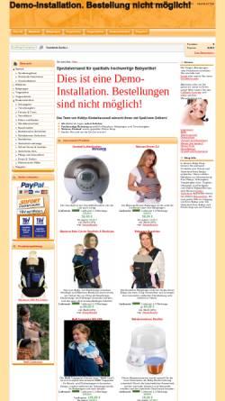 Vorschau der mobilen Webseite www.kiddys-kinderkarussell.de, Online Shop für Babybekleidung und Babysicherheit