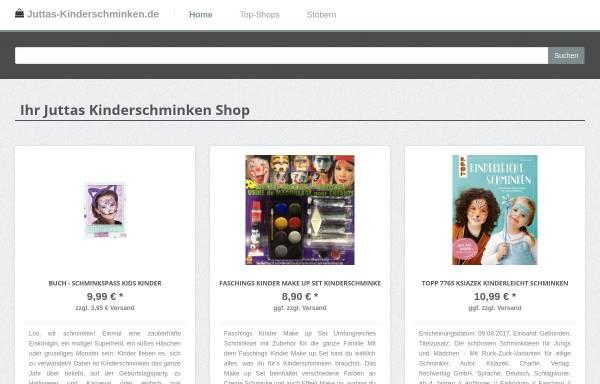 Vorschau von juttas-kinderschminken.de, Juttas Kinderschminken - für das schönste Kinderlächeln