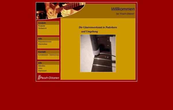 Vorschau von www.peach-gitarren.de, Peach Gitarren - Gitarrenbau nach Maß