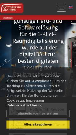 Vorschau der mobilen Webseite www.hottgenroth.de, Hottgenroth Software GmbH & Co. KG