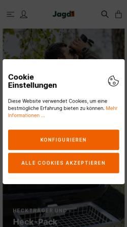 Vorschau der mobilen Webseite www.jagd1.de, jagd1.de Jagdgelegenheiten Bundesweit