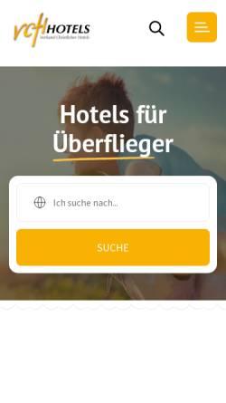 Vorschau der mobilen Webseite www.vch.ch, VCH Verband christlicher Hotels