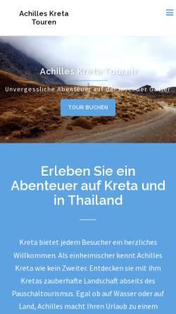 Vorschau der mobilen Webseite www.achilles-kreta.de, Achilles Kreta Touren