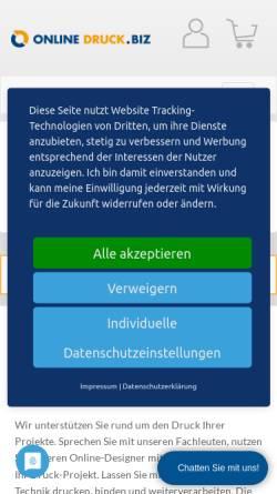 Vorschau der mobilen Webseite www.online-druck.biz, online-druck.biz