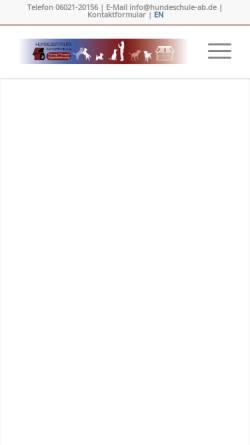 Vorschau der mobilen Webseite www.hundeschule-ab.de, Hundeschule Aschaffenburg
