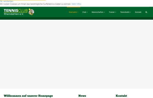Vorschau von www.tennisclub-rheindahlen.de, TC Rheindahlen e.V. 1914
