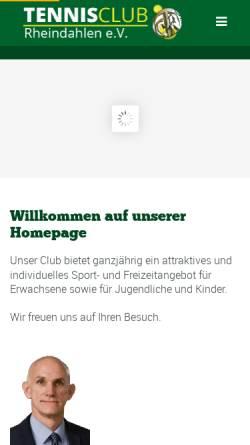 Vorschau der mobilen Webseite www.tennisclub-rheindahlen.de, TC Rheindahlen e.V. 1914