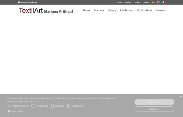 Vorschau von www.fruehauf.it, Textilkunst aus Südtirol von Mariana Frühauf