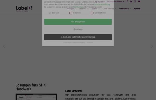 Vorschau von www.label-software.de, Label Software Gerald Bax GmbH
