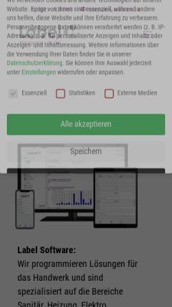 Vorschau der mobilen Webseite www.label-software.de, Label Software Gerald Bax GmbH