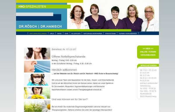 Vorschau von www.roesch-hanisch.de, HNO Arzt Praxis Braunschweig - Dr. med. Rösch & Hanisch